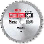 "Circular Saw Blade - 9"" Dia. - 72 TPI - 1"" Arbor - USA - M.K. Morse Metal Devil NXT CSM972NAC"