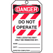 Accuform MLT406LTP Lockout Tag, Danger Do Not Operate, HS-Laminate, 25/Pack