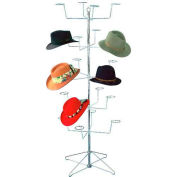 Marv-O-Lus Economical Floor Hat Rack, 5 Tier, Chrome, 145-5H8