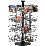 Marv-O-Lus Counter CD Rack, 32 Pocket Tier, Black, 156-1CD
