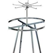 Marv-O-Lus Sky Kit W/ One 8 Hook Tier, 1 Step Design, Chrome, 160-1E3-SIL