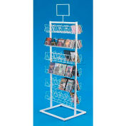 Marv-O-Lus CD/DVD Display - Double Sided, 48 Pockets, White, 1610