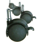 Marv-O-Lus Casters For Triple Dump Bin, Steel, Black, 1952 Caster Set