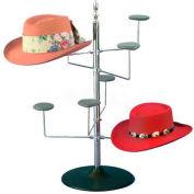 Marv-O-Lus Women's Counter Hat Rack, 4 Tier, Black/Chrome, 32