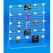 Marv-O-Lus Linear Counter Display - Jumbo, 10 Piece, Steel, White