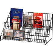 Marv-O-Lus 3-Step Shelf Display, 3 Step Design, Black, 61