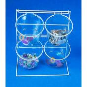 Marv-O-Lus 4 Jar Counter Rack, 2/Cs, 2 Step Design, White, 70