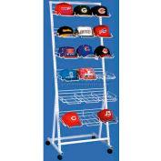 Marv-O-Lus Versa-Rack W/ 6 Cap Shelves, 6 Step Design, White, 84-6SH-CAP