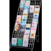 Marv-O-Lus Greeting Card Floor Display, 60 Pockets, White, GC-60