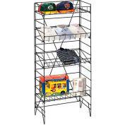 Marv-O-Lus Floor Shelf Display, 5 Step Design, Black, SR-1