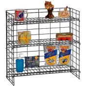 Marv-O-Lus Counter Shelf Rack, 3 Step Design, Black, SR-5