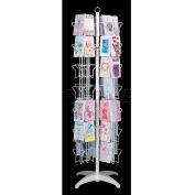 Marv-O-Lus Greeting Card Floor Displays, 84 Pockets, White, UDR84W