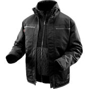 Milwaukee® 2170-L M12™ Cordless Black Heated 3-in-1 Ripstop Jacket Only - L