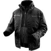 Milwaukee® 2171-3X M12™ Cordless Black Heated 3-in-1 Ripstop Jacket Kit - 3X
