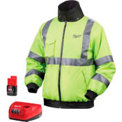 Milwaukee® 2347-4X M12™ Cordless High Visibility Heated Jacket Kit - 4X