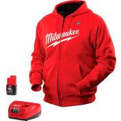 Milwaukee® 2371-2X M12™ Cordless Red Heated Hoodie Kit - 2X
