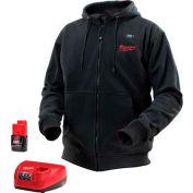 Milwaukee® 2381-2X M12™ Cordless Black Heated Hoodie Kit - 2X
