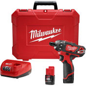"Milwaukee 2406-22 M12 1/4"" Hex 2-Speed Screwdriver Kit"