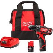 "Milwaukee 2407-22 M12 3/8"" Cordless Drill/Driver Kit"