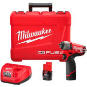 "Milwaukee® 2452-22 M12 FUEL™ 1/4"" Drive Impact Wrench Kit"