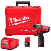 "Milwaukee® 2453-22 M12 FUEL™ 1/4"" Hex Impact Driver Kit"