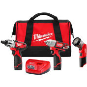 Milwaukee® 2491-23 M12™ Cordless 3-Tool Combo Kit