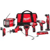 Milwaukee® 2495-28 M12™ Cordless 8-Tool Combo Kit