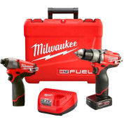 Milwaukee® 2597-22 M12 FUEL™ Hammer Drill & Impact Driver 2-Tool Combo Kit