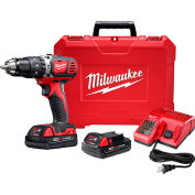 "Milwaukee 2607-22CT M18 Compact 1/2"" Hammer Drill/Driver Kit"