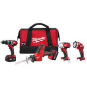 Milwaukee 2695-24 M18 Cordless Li-Ion 4-Tool Combo Kit