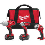 Milwaukee® 2696-23 M18™ Cordless Li-Ion 3-Tool Combo Kit