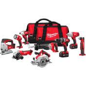Milwaukee® 2696-29 M18™ Cordless Li-Ion 9-Tool Combo Kit