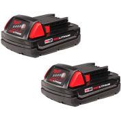 Milwaukee® 48-11-1811 18V Li-Ion M18 Battery 1.5Ah Compact 2Pk