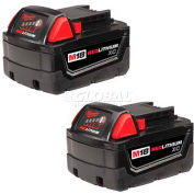 Milwaukee® 48-11-1822 M18™ REDLITHIUM™ Extended Capacity Battery (2 Pack)