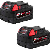 Milwaukee® 48-11-1852 M18™ Redlithium™ XC5.0 Cordless Battery, 2-Pack - Pkg Qty 2