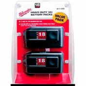 Milwaukee® 48-11-2232 18V NiCD Battery 2.4Ah 2Pk
