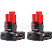 Milwaukee® 48-11-2412 12V Li-Ion M12 Battery 3Ah Extended Capacity 2Pk