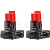 Milwaukee® 48-11-2412 M12™ REDLITHIUM™ Extended Capacity Battery (2 Pack)