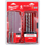 Milwaukee® 48-20-7495 Rotary Hammer Drill Bit Set, 6 PC