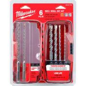 Milwaukee® 48-20-7495 Rotary Hammer Drill Bit Set, 6 PC