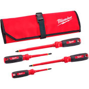 Milwaukee® 48-22-2204 4 PC 1000V Insulated Screwdriver Set W/ Roll Pouch