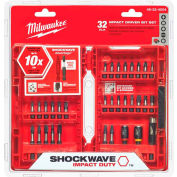 Milwaukee® 48-32-4004 SHOCKWAVE™ 32-Piece Impact Driver Bit Set - Pkg Qty 5