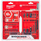 Milwaukee® 48-32-4006 SHOCKWAVE™ 40-Piece Drill & Drive Bit Set - Pkg Qty 5