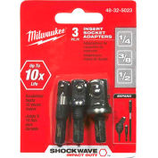 "Milwaukee® 48-32-5023 Shockwave™ Insert Sckt Adptr Set (1/4"", 3/8"", 1/2"")"