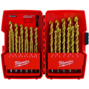 "Milwaukee® 48-89-0012 Thunderbolt® 1/16""-1/2"" 29Pc. Titanium Coated Drill Bit Set"