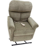 "Mega Motion Infinite Position Power Lift and Recline, 20""W x19-1/2""D Seat, Brown, 325 lbs Capacity"