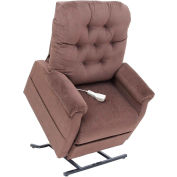 "Mega Motion Three Position Power Lift and Recline, 20""W x20""D Seat, Brown, 325 lbs Capacity"