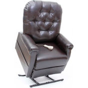 "Mega Motion Three Position Power Lift and Recline, 20""W x20""D Seat, Burgundy Vinyl, 325 lb Capacity"