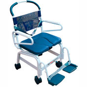 "Mor-Medical Euro Shower Commode Chair, 400 lbs. Capacity, 22""W Seat"