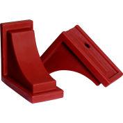 "Mayne® 4828-R Nantucket Decorative Corbels, Red, Polyethylene, 8"" x 7"" x 4"", 2/Pack"